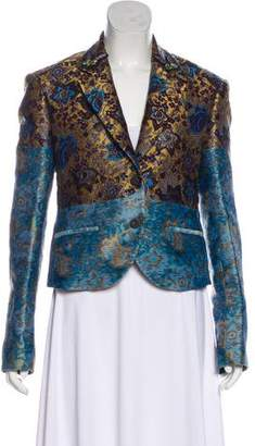 Creatures of the Wind Jacquard Notch-Lapel Blazer