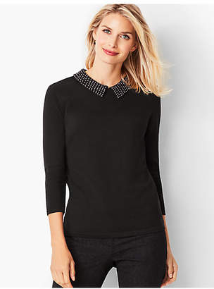 Talbots Pearl-Embellished Top