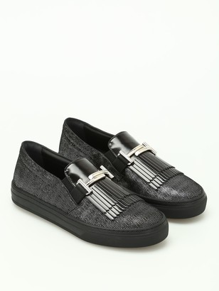 Tod's Tods Black Leather Loafers