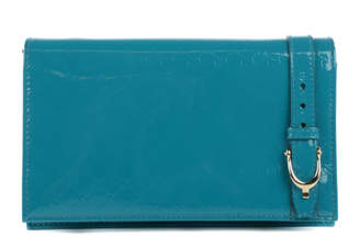 Gucci Nice Wallet MicroGuccissima Patent Leather Teal