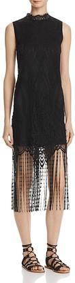 AQUA Lace Fringe Hem Dress - 100% Exclusive $78 thestylecure.com