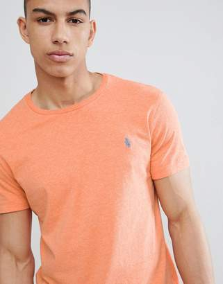 Polo Ralph Lauren T-Shirt With Player Logo In Orange Marl