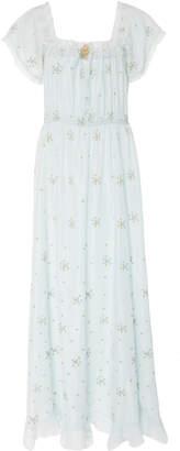LoveShackFancy Tracy Silk Maxi Dress