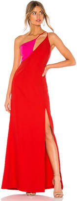 BCBGMAXAZRIA Cut Out Colorblock Gown