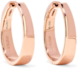 Anita Ko Meryl 18 Karat Rose Gold Hoop Earrings One Size