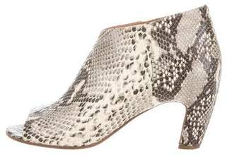 Maison Margiela Snakeskin Ankle Booties