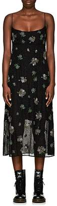 Marc Jacobs Women's Floral-Embellished Silk Dress - Black