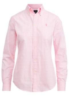 Ralph Lauren Slim Fit Gingham Poplin Shirt 566C Pink/White 4