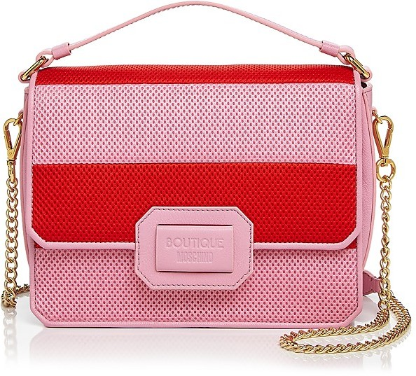 Moschino Boutique Moschino Honeycomb Neoprene Shoulder Bag