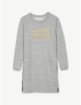 Little Marc Glitter-embellished cotton-jersey jumper dress 4-14 years