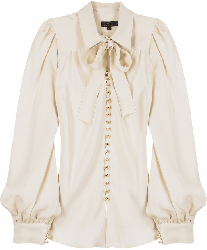 Mulberry Silk button front blouse
