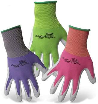 Boss Gloves 8438XS X-Small LadyFinger Women's Nitrile Palm Gloves Asst Colors