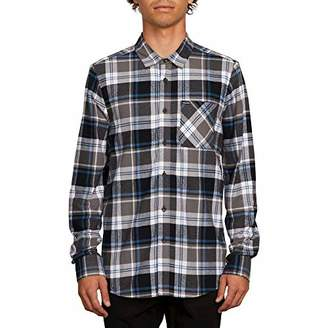 Volcom Men's Caden Plaid Long Sleeve Flannel Shirt