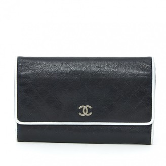 Chanel Timeless Navy Leather Wallets