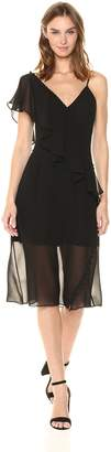 Keepsake The Label Women's Morning Rain Ruffle One Shoulder Midi Dress