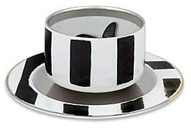 Christian Lacroix by Vista Alegre by Vista Alegre Set of Four Sol y Sombra Tea Cup AndSaucer