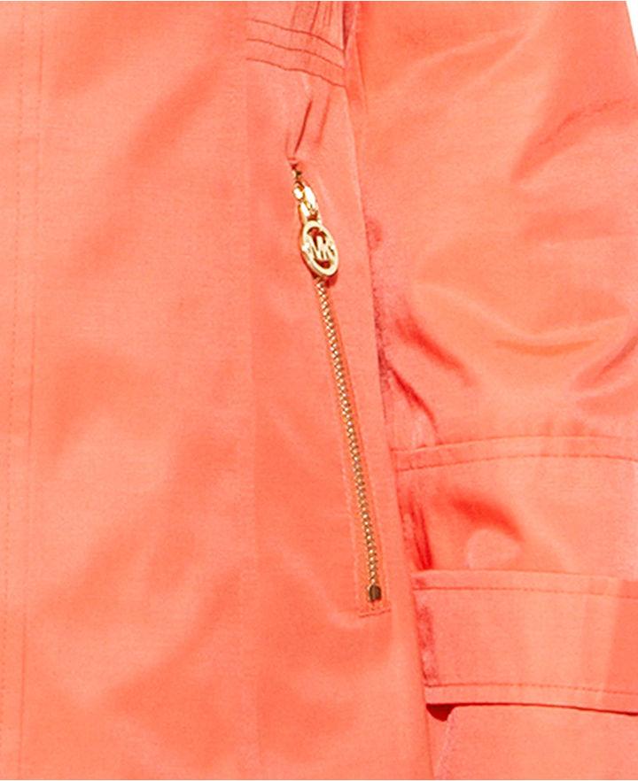 MICHAEL Michael Kors Hooded Zip-Front Raincoat