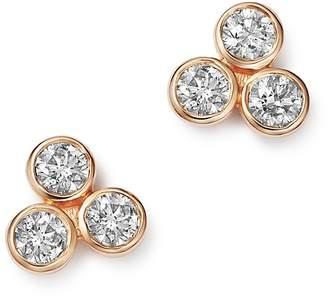 Bloomingdale's Diamond Three Stone Stud Earrings in 14K Rose Gold, 0.30 ct. t.w. - 100% Exclusive