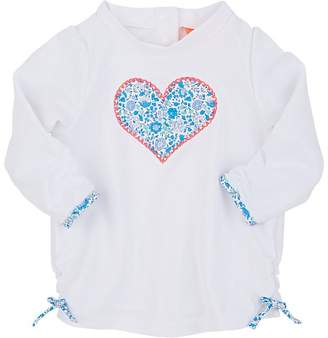 Sunuva Kids' Floral-Heart Rashguard