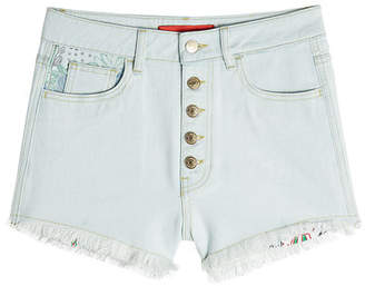 Tommy Hilfiger Fringed Denim Shorts