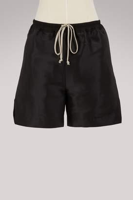 Rick Owens Duchesse silk shorts