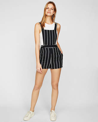 Express Striped Overall Shorts