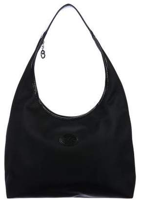 Longchamp Leather-Trimmed Nylon Hobo