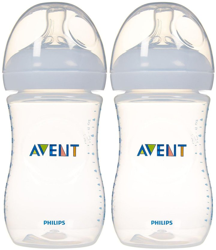 Avent Naturally Natural Bottle - Clear - 9 oz - 2 ct