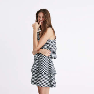 Gingham Tier Mini Skirt $79.50 thestylecure.com
