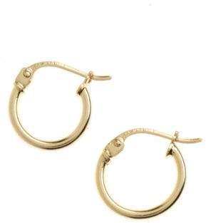 Lord & Taylor 18K Goldplated Small Hoop Earrings