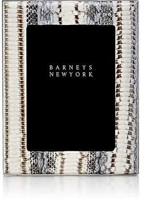 """Barneys New York Studio Snakeskin 5"""" x 7"""" Picture Frame"""