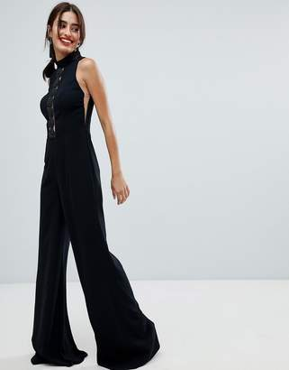 Forever Unique Lace Insert Jumpsuit
