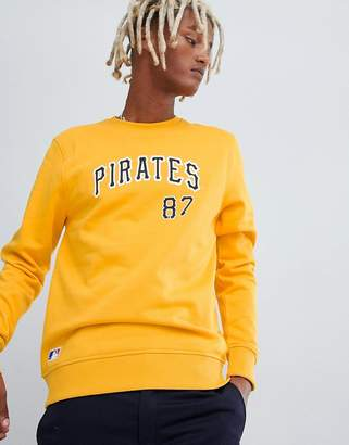 New Era MLB Pittsburgh Pirates Sweatshirt With Arch Logo In Yellow