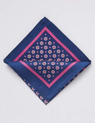 Marks and Spencer Pure Silk Foulard Pocket Square