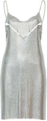 Paco Rabanne diamond mesh short dress