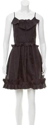 Marc Jacobs Ruffle-Trimmed Taffeta Dress