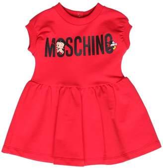 Moschino Betty Boop Print Cotton Sweatshirt Dress