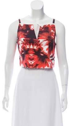 Milly Abstract Print Crop Top