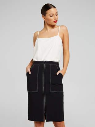 Portmans Australia Zoey Zip Stitch Skirt