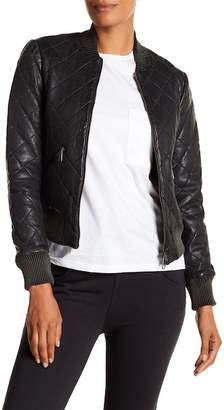 Liebeskind Berlin Quilted Leather Bomber Jacket