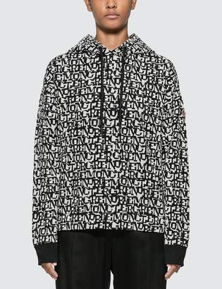 Moncler Knitted Lettering Hoodie