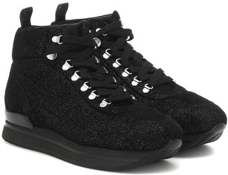 Hogan H222 metallic high-top sneakers