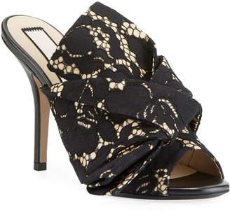 No.21 No. 21 Lace Bow Slide Sandals