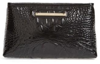 Brahmin Marney Croc Embossed Zip Pouch - Black $75 thestylecure.com