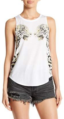 Chaser Leopard Print Strappy Tank Top
