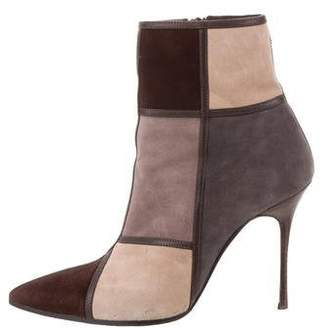Manolo Blahnik Suede Ankle Boots