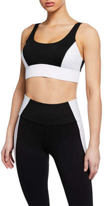Michi Wave Colorblock Scoop-Neck Sports Bra