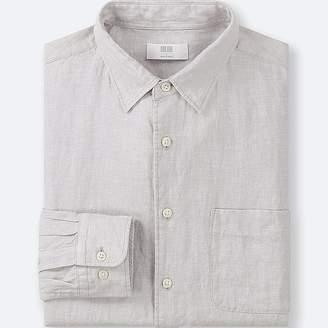 Uniqlo Men's Premium Linen Long-sleeve Shirt