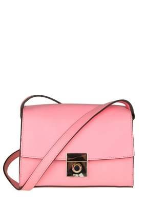 Furla Milano S Shoulder In Pink Leather