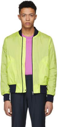 Paul Smith Yellow Neon Ripstop Bomber Jacket